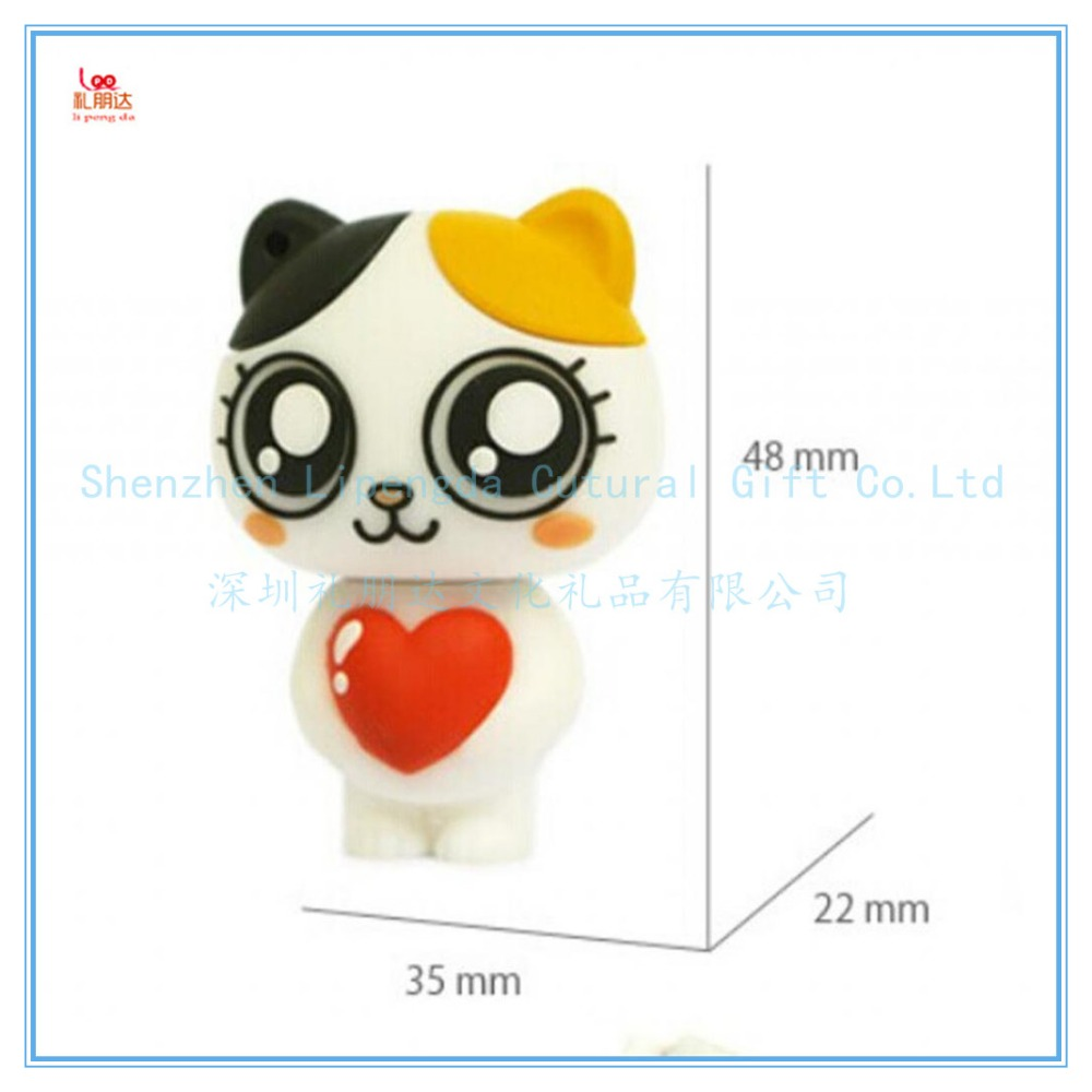 Waterproof anti dust acrylic usb pen drives, cartoon usb pen drives, silicone usb pen drives for amazon