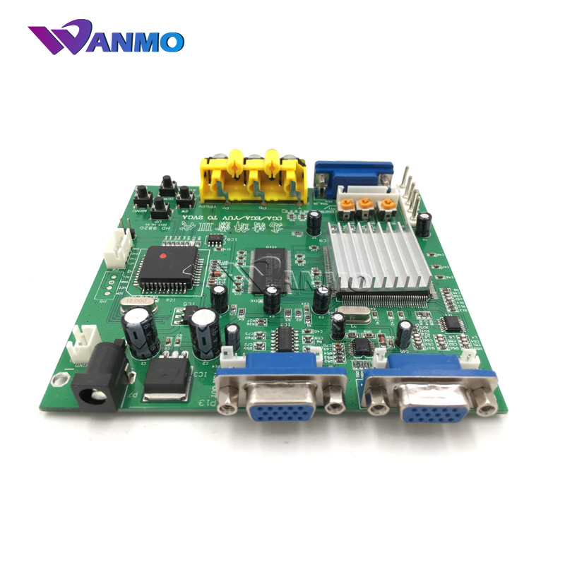 wanmo good quality 1 Set New (RGB CGA to VGA) HD Video Converter Board Moudle 9820 sale