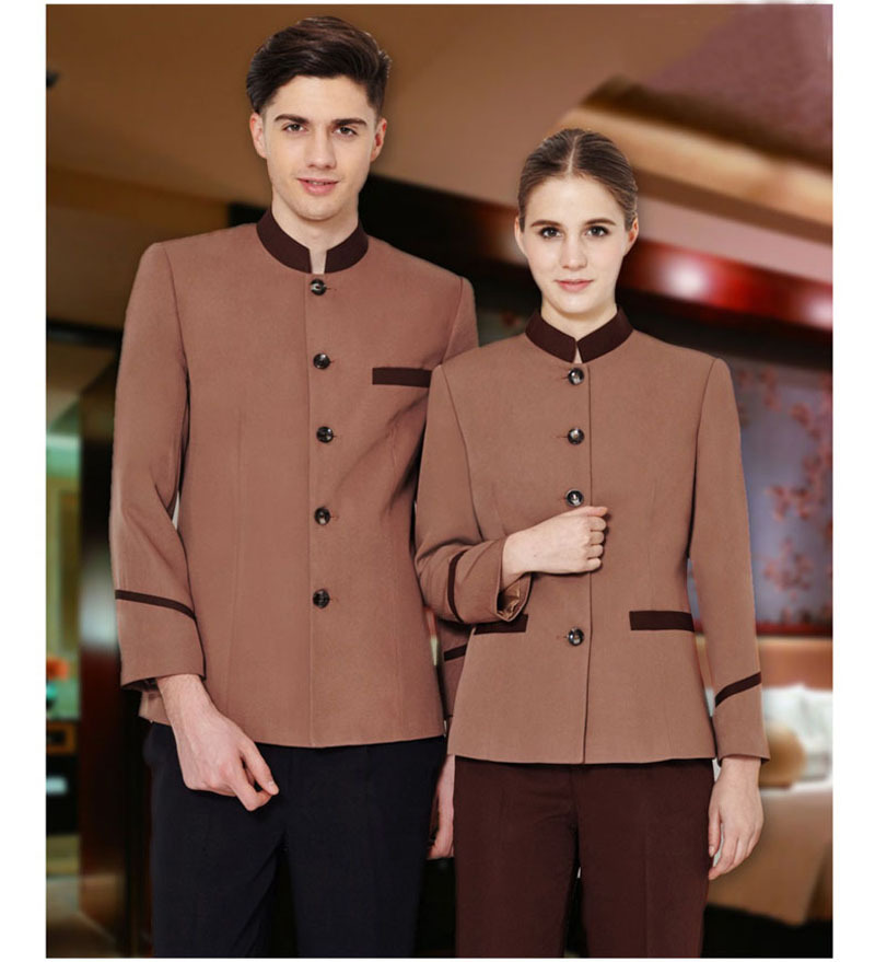 Customized high quality hotel hosekeeping staff wear Cleaning waiter Uniforms