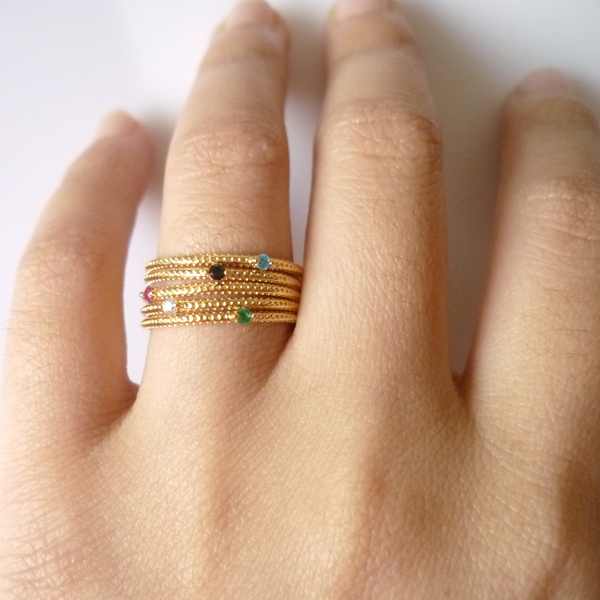Fashion Gold Thin Stack Rings Set no1 gram gold ring gold for