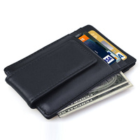Men's Money Clip Business Soft Wallet Credit Card Holder