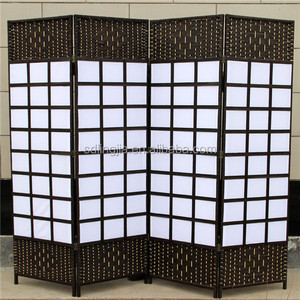 4 Panels Handmade Plastic Wedding Screen Bamboo Conference Room Divider