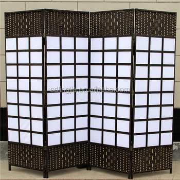 4 Panels Handmade Plastic Wedding Screen Bamboo Conference Room