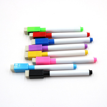 plastic whiteboard marker pen, magnetic erasable dry markers