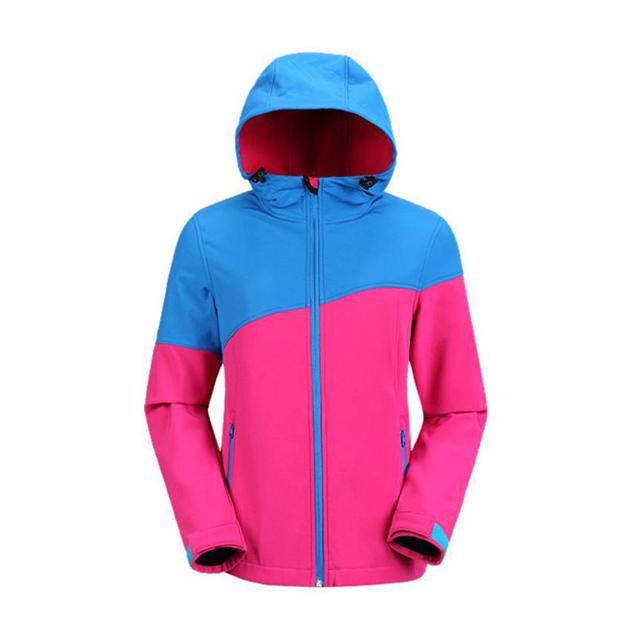 Mannen Softshell Jas Outdoor Wandelen Skiën Camping Softshell Jas Waterdicht Ademend Polyester Fleece Jas