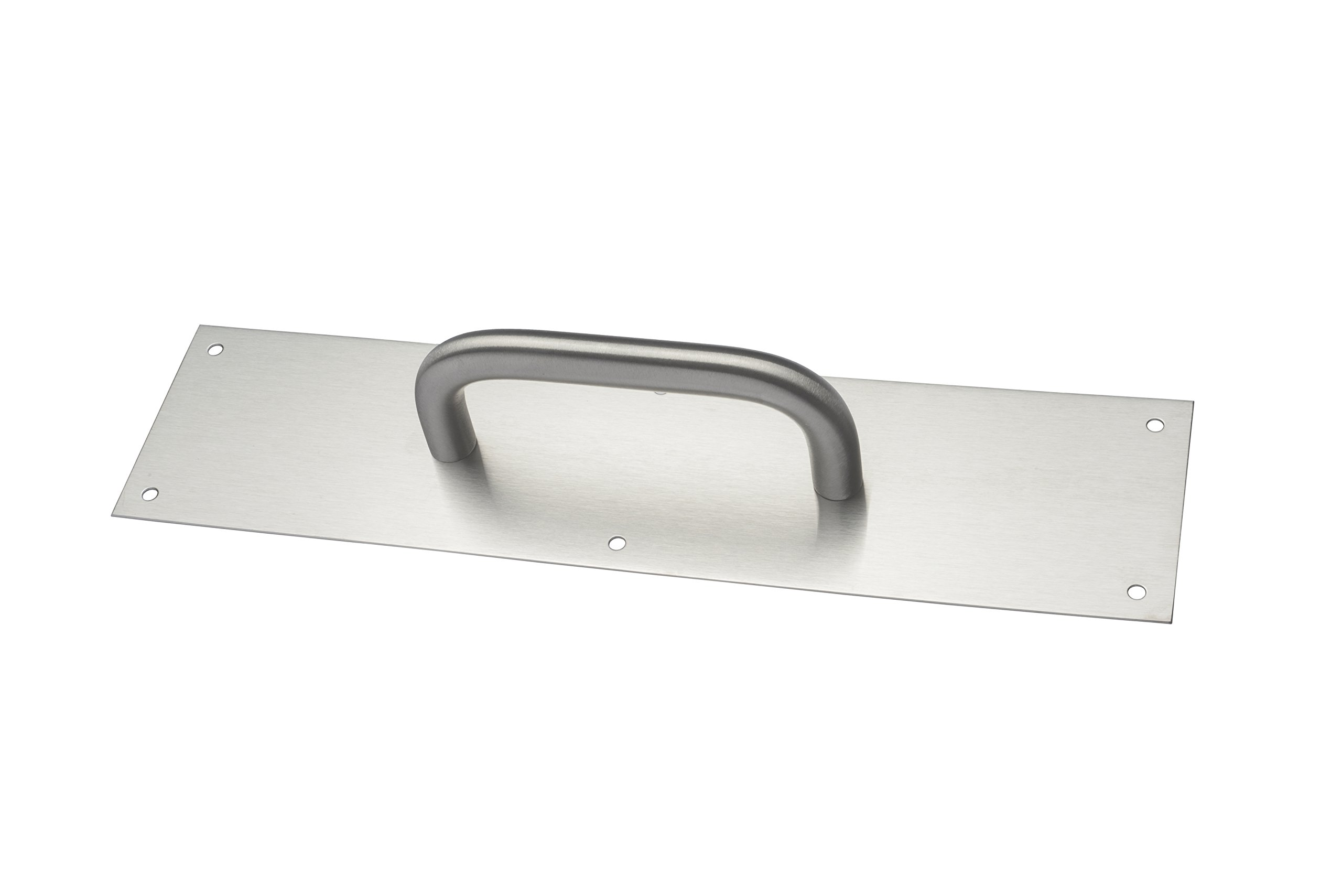 Rockwood 132 X 70C.26D Brass Cast Pull Plate 5-1//2 Center-to-Center Handle Length 16 Height x 4 Width x 0.050 Thick Satin Chrome Plated Finish