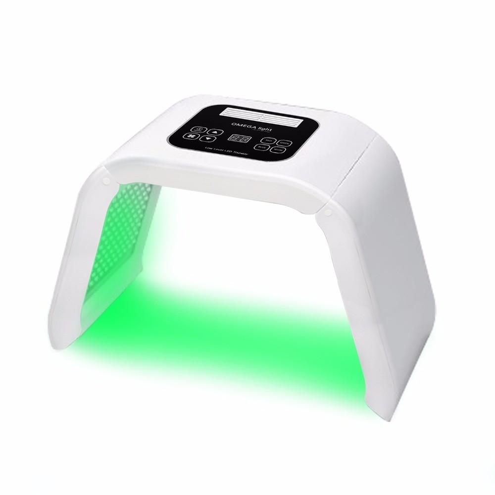 2017 Hot sale 4 color omega led light face mask light acne skin care PDT led light