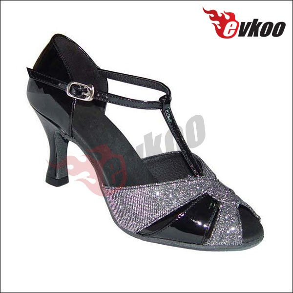 d4dabda006 Square heel with high arch support vamp professional latin dance shoes