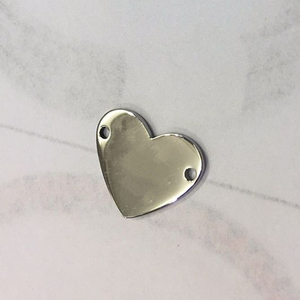 fashion pendant designs custom logo stainless steel heart shape metal pendant for bracelet