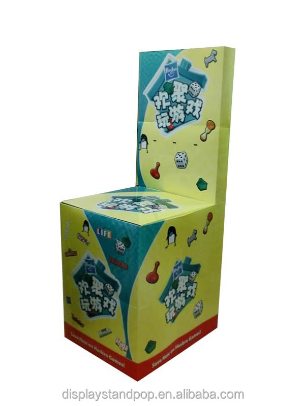 environmental cardboard display for toys retailing/ table pallet display stand for tea leaves