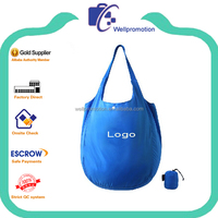 wellpromotion custom recycled PET reusable folding shopping bags