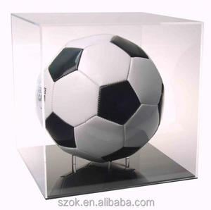 top grade fashionable design clear acrylic football display case for retail shop wholesale