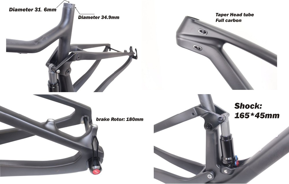 Carbon Mountain Bike Frame Mtb Bicycle Parts Full Suspension