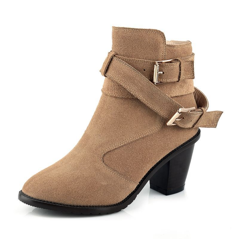 6d6eb191080a Get Quotations · 2015 new arrival winter autumn medium square heels ankle  boots women shoes paltform prices in euros