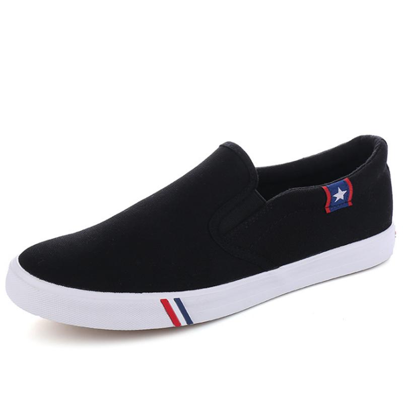 a975f7dde34b white canvas men's flat casual shoes 2018 men fashion slip-on wholesale