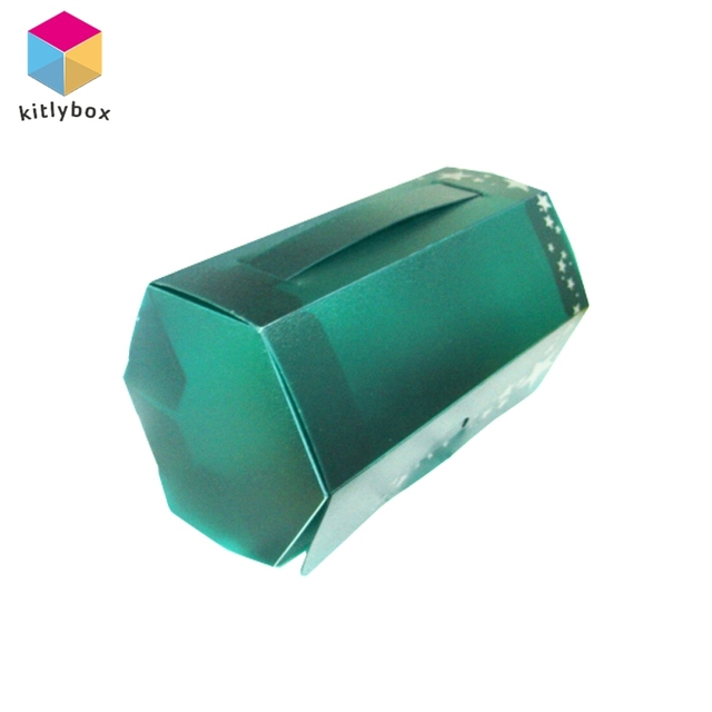 Hot Selling Blister Hexagon Die Cut Folding Plastic Gift Packaging Box