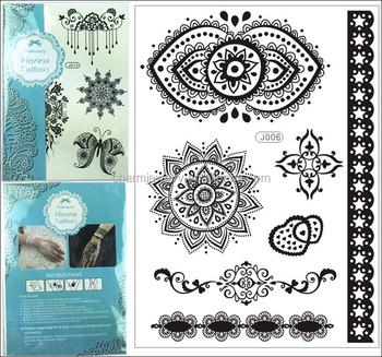 New Black Lace Temporary Tattoo Paper Bracelet Elegant Flash Tatoo Transferable Henna Paste Women Body Art Tatuagem J006 Buy New Black Lace