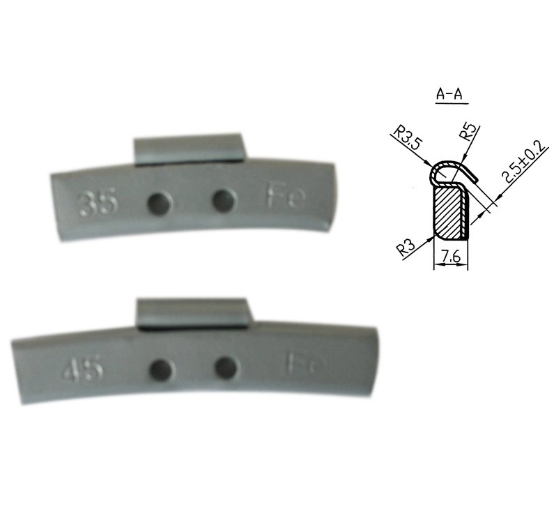 Auto parts Fe clip type wheel weights used for car balance
