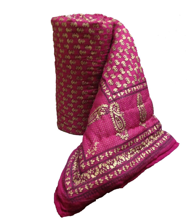 cd6eef7fe5 Exclusive Indian Jaipuri Quilt With Authentic Sanganeri Print Cotton  Filling & Double Bed Jaipuri Razai -