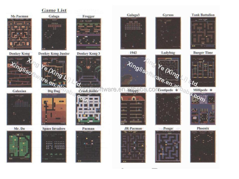 classical game 60 in 1 pcb for video game machine