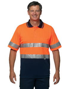 Men polyester High visibility Polo shirt