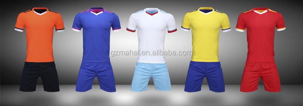 High Quality Customized Soccer kit football training uniforms jersey and shorts custom own logo sponsor