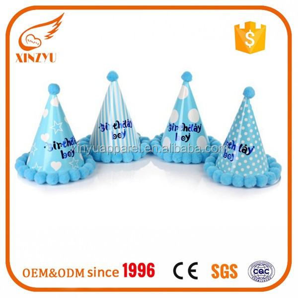 High quality cute and funny party hat for kids birthday