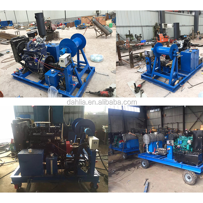 110l / Min Oil Tank High Pressure Cleaning Equipment For De-rusting ...