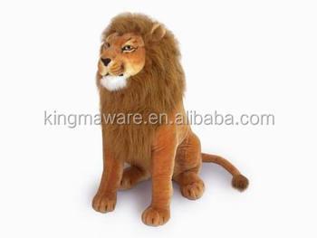 Realistic Plush Lion Toy Stuffed Sitting Lion Plush Toy Plush