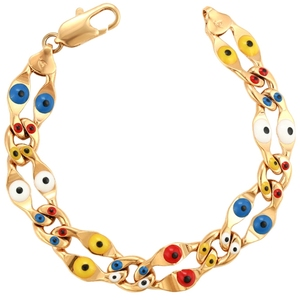 Bracelet-6 xuping Chain Link multicolor trukish eye 18K real gold plated Bracelets women China wholesale new design jewelry