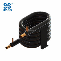 HZSS hot selling spiral wound tube in tube Coaxial Heat Exchanger Water to Freon heat pump water heater condenser or evaporator