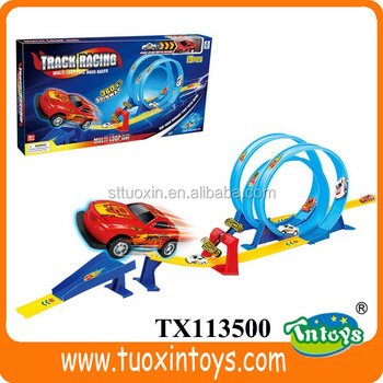 Toy Rubber Track Battery Operated Kids Race Cars