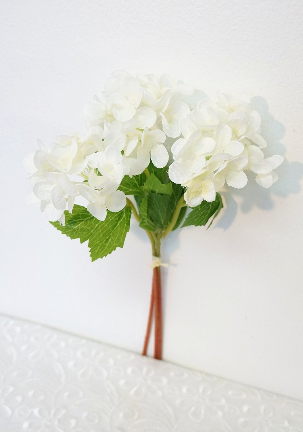 Cheap white silk hydrangea flowers find white silk hydrangea get quotations sweet home deco 12 silk hydrangea artificial flower bunch 3 stems w izmirmasajfo
