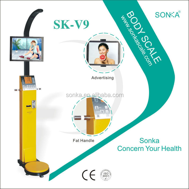 Coin 0perated/ Scale Model/Body Scale SK-V9 With 19 Inch Advertising Screen