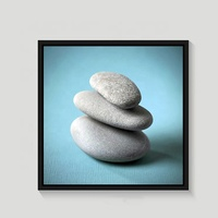 Design of stone Giclee on canvas with frame painting for indoor decoration