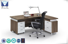 Hot sale melamine office desk with two cabinets modular office furniture