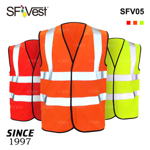 100% Polyester EN20471 Custom Traffic Road Work Chaleco Construction Security High Visibility Reflective Safety Vest with Logo