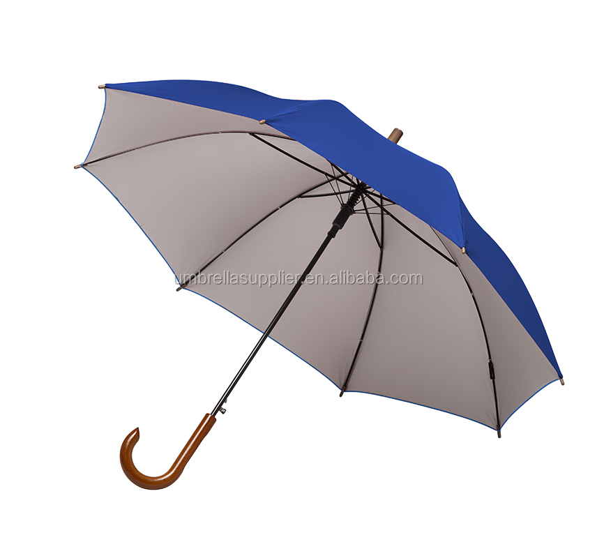 Brand design straight umbrella wholesale wooden handle