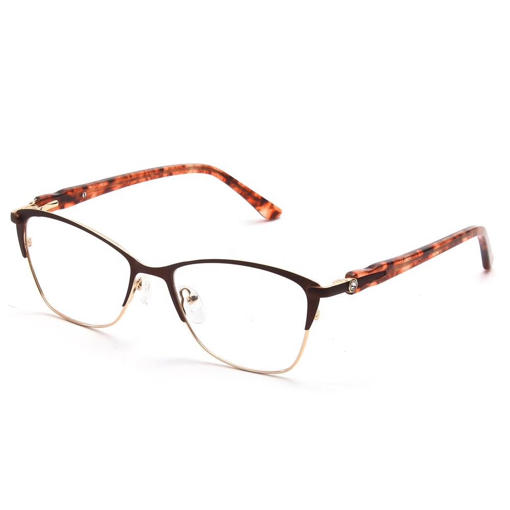 b1b8363dc Las tiendas en línea de Wenzhou distribuidores de moda de Metal marrón  marco óptico ...