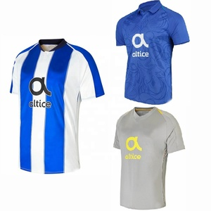 Manufacturer Made Protugal Club Jersey Thai Quality 2018 2019 Porto White and Blue Striped Football Jersey