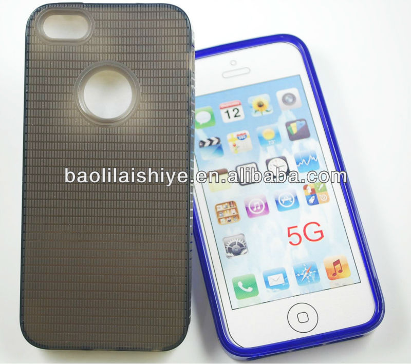 New stylish trendy cross cut silicone gel phone accessories for Iphone 5G