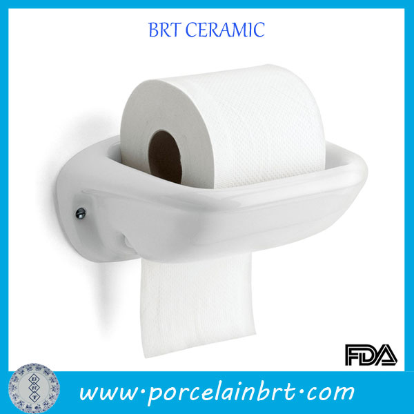 Classical White Bathroom Ceramic Toilet Paper Holder Buy Ceramic