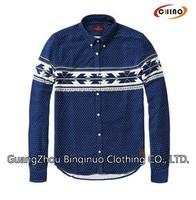 Blue Color Design Jeans Shirt for Men online shopping