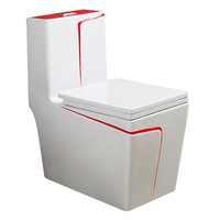 9227R Hot Sale One Piece Toilet China Siphon Style Four Hole Excess Eddy, Toilet WC sitting