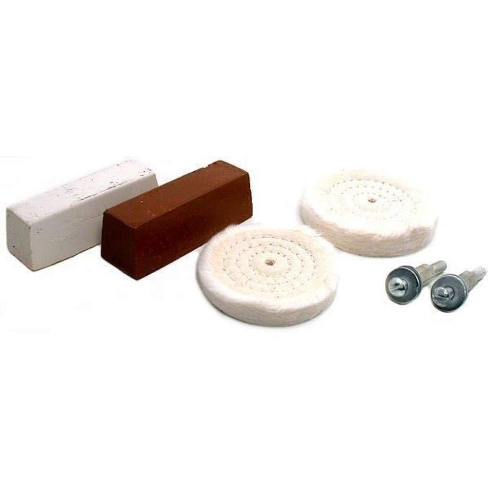 4pc Buffing Kit Polishing Wheels Rouge Arbors Tools