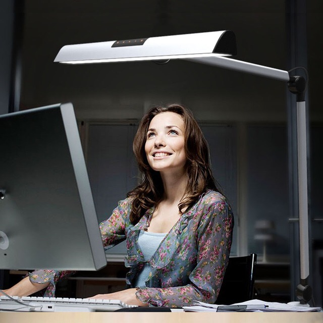 UYLED Adjustable Arm Two Color Temperature Modern Office Dimmable LED Desk Lamp With Touch Switch