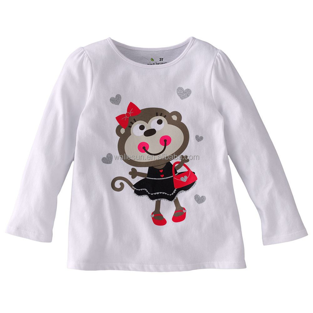 Shirt design for baby girl - Custom Baby Girl Boy Printed T Shirts Long Sleeve Children T Shirt Kid T