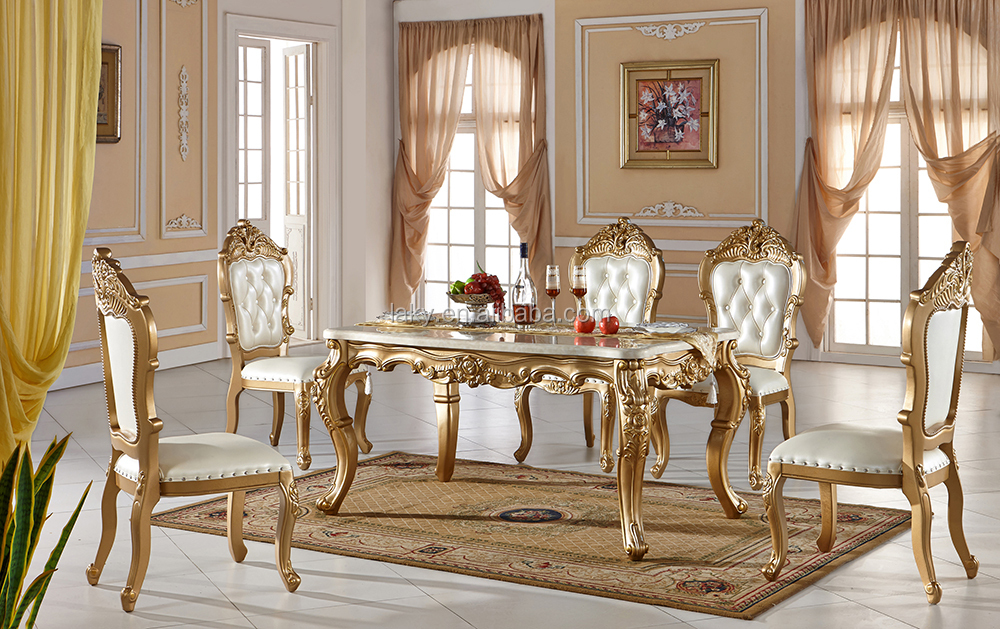 CT0120 Noble House Furniture Marble Table Tops Dining Table Set