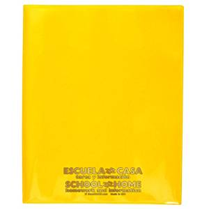 StoreSMART - School / Home Folders - Yellow - 25-Pack - Archival Durable Plastic - English/Spanish - Homework and Information - SH900SVSP-Y25