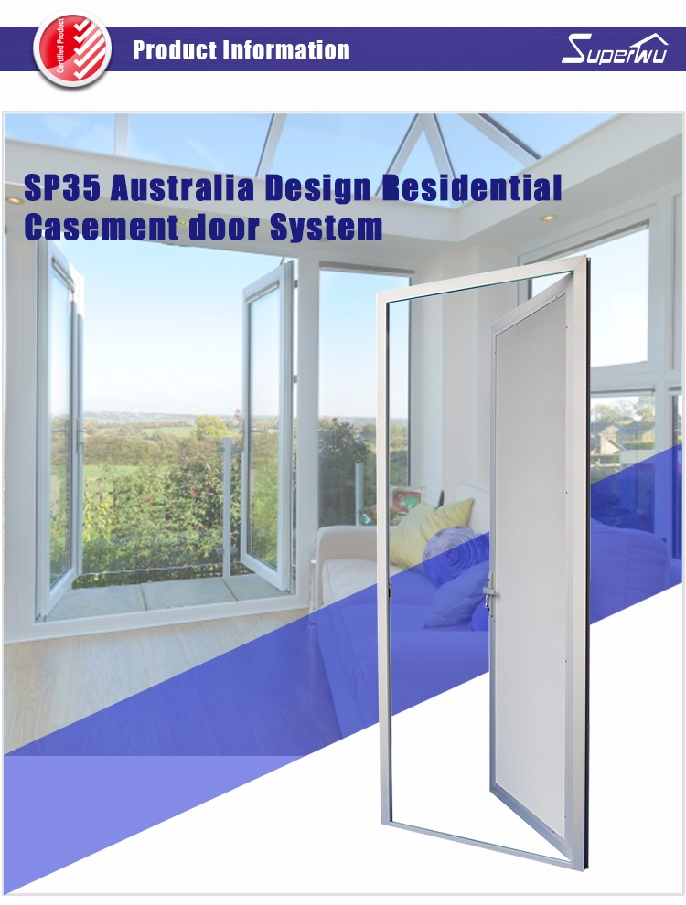Superwu Australian Standard Aluminium Entrance Door Gate Door ...